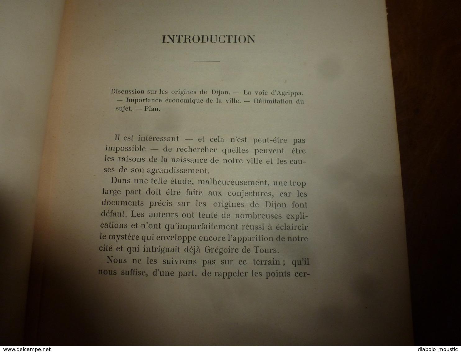 1905 Les Foires Et Marchés à Dijon , évol. Depuis Les Origines  ( Dont Parties écrites Dans Le Français De L'époque);etc - Livres, BD, Revues