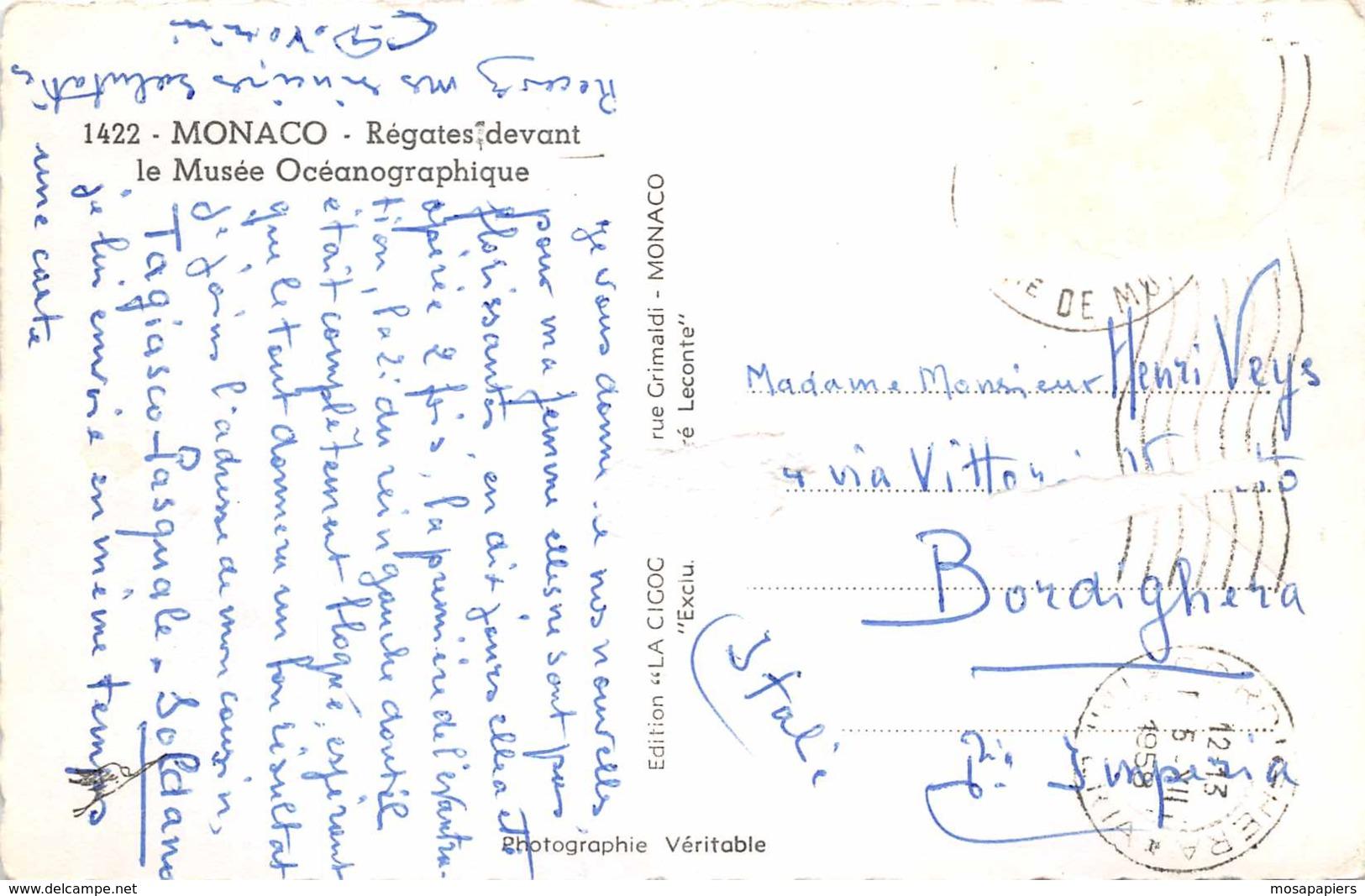Monaco - Régates Devant Le Musée Océanographique - Oceanographic Museum