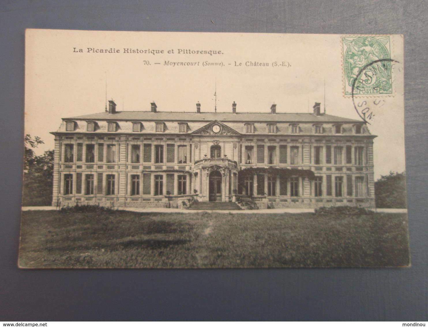 Cpa Moyencourt Le Château (S.-E.). 1907 - Unclassified