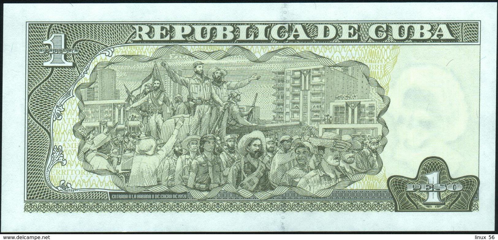 CUBA - 1 Peso 2016 {José Marti} UNC P.128 G - Cuba