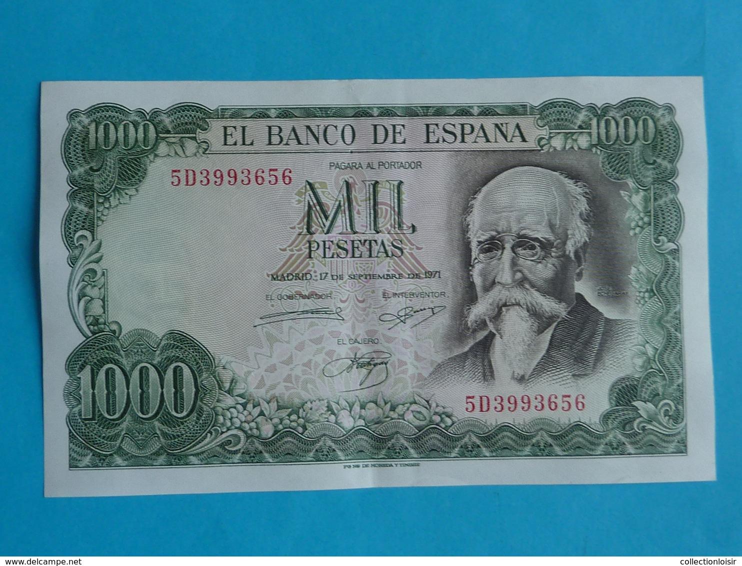 1000  PESETAS 17 SEPTEMBRE 1971 -  5 D 3993656 - [ 3] 1936-1975: Regime Van Franco