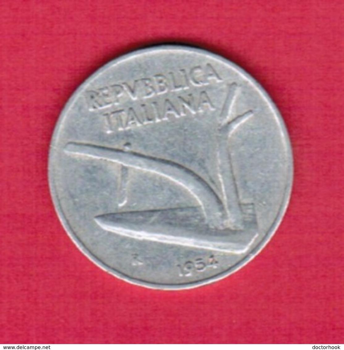 ITALY  10 LIRE 1954 (KM # 93) #5259 - 1946-… : Republic