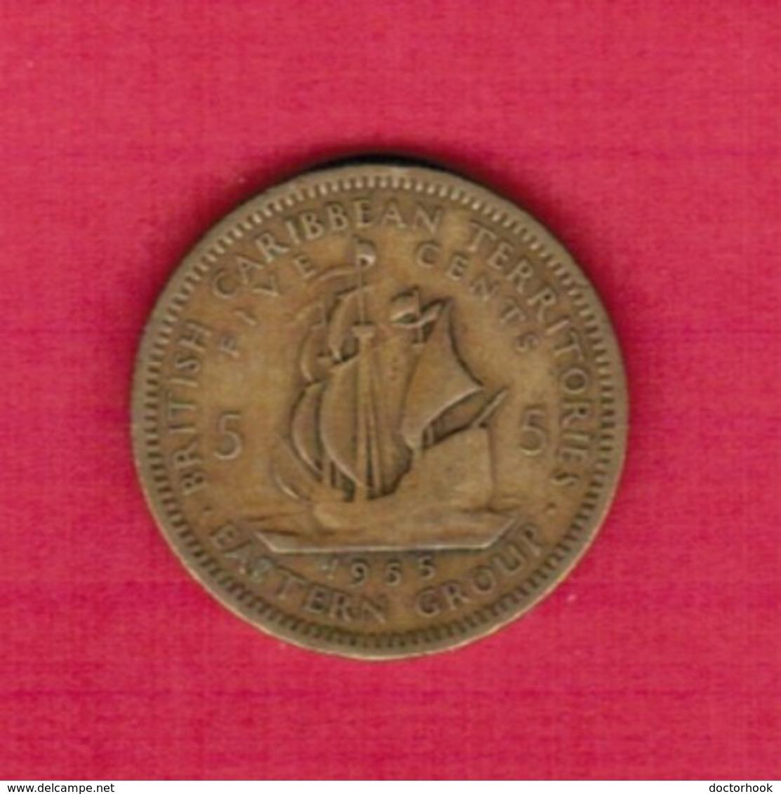 BRITISH CARIBBEAN TERRITORIES  5 CENTS 1955 (KM # 4) #5271 - Britse Caribische Gebieden