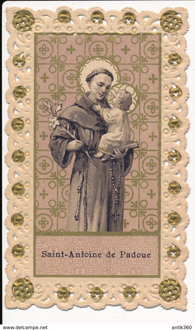 Image Pieuse Holy Card Santino Canivet Dentelle SAINT ANTOINE DE PADOUE - Devotion Images