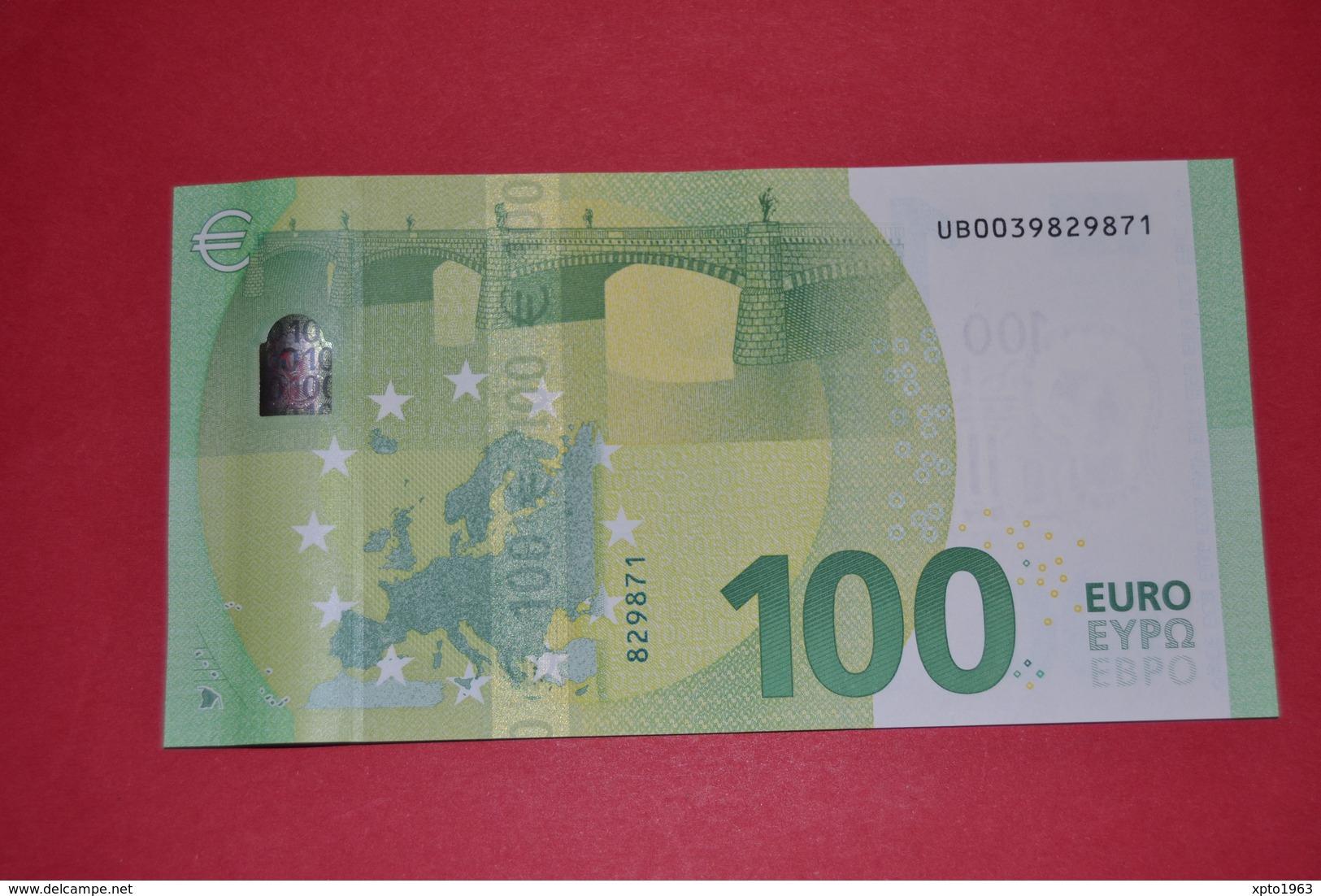 FRANCE 100 EURO - U002C2 Série Europa - Serial Number: UB0039829871 - UNC NEUF - EURO