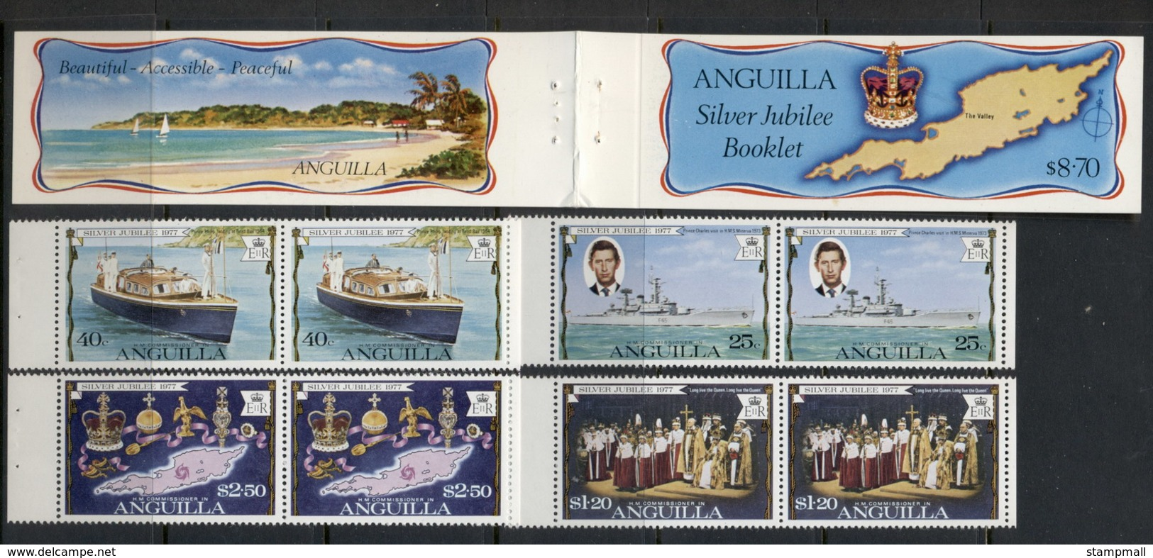 Anguilla 1977 QEII Silver Jubilee Exploded Booklet MUH - Anguilla (1968-...)