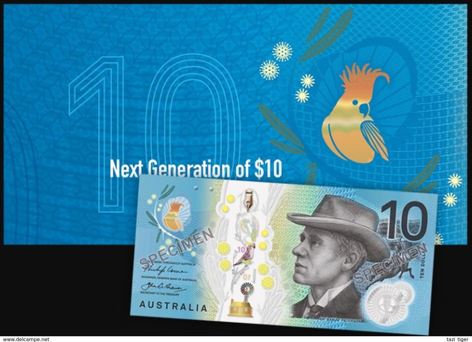 AUSTRALIA • 2017 • RBA Folder • $10 Next Generation • Uncirculated - Decimal Government Issues 1966-...