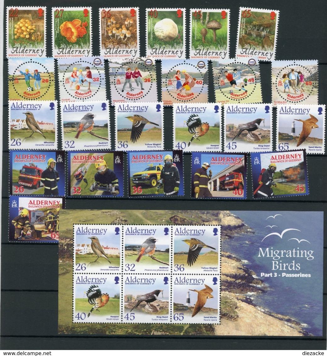 Alderney Jahrgang 2004 Kpl. Postfrisch MNH (E2220 - Alderney