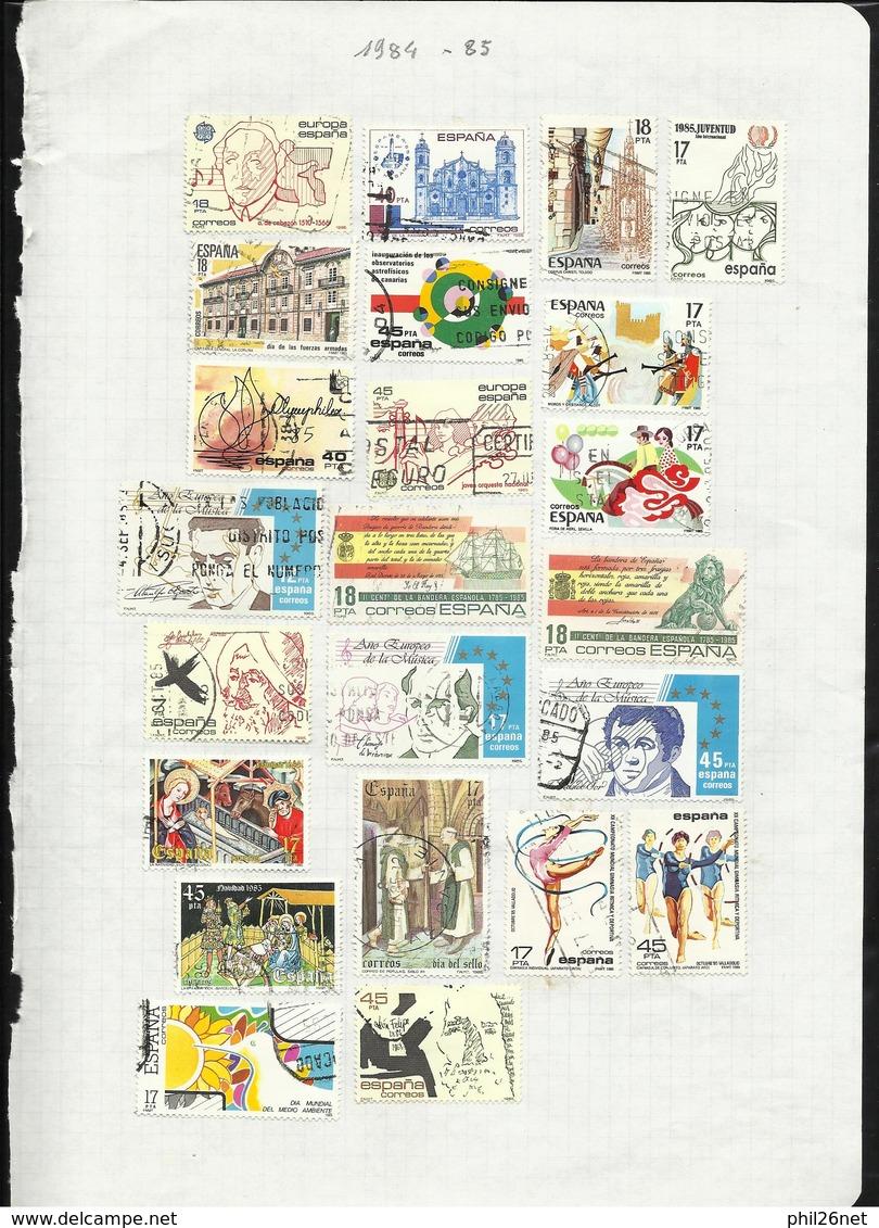 Espagne  De 1971  à  1996  Quasiment Complet Poste Et Blocs Oblitérés B/TB Cachets TB  Introuvable ! ! !   Braderie ! ! - Collections (sans Albums)