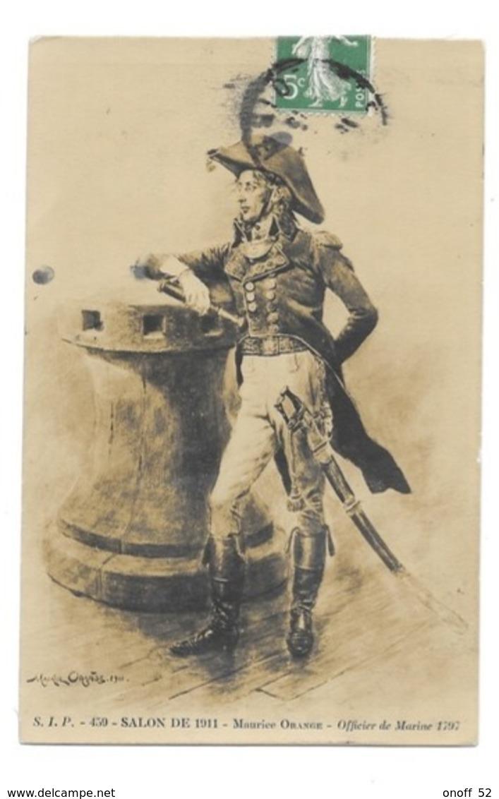 CPA SALON DE 1911 MAURICE ORANGE OFFICIER DE MARINE 1797 - Peintures & Tableaux