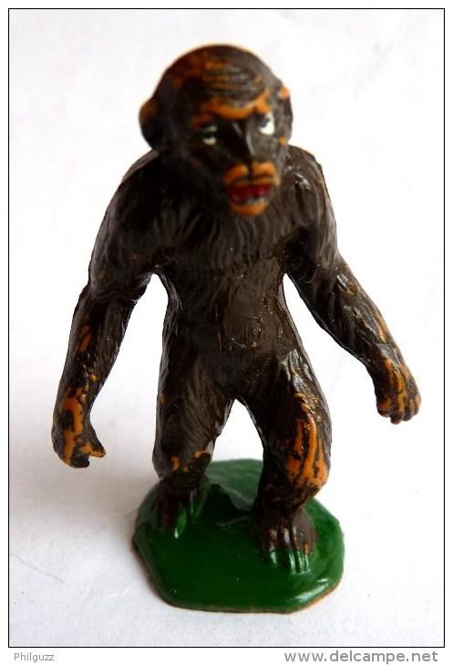 Figurine STARLUX  1953 - ANIMAUX - Singe GORILLE 715 ZOO Pas Clairet Elastolin Ougen Jim Cyrnos - Starlux