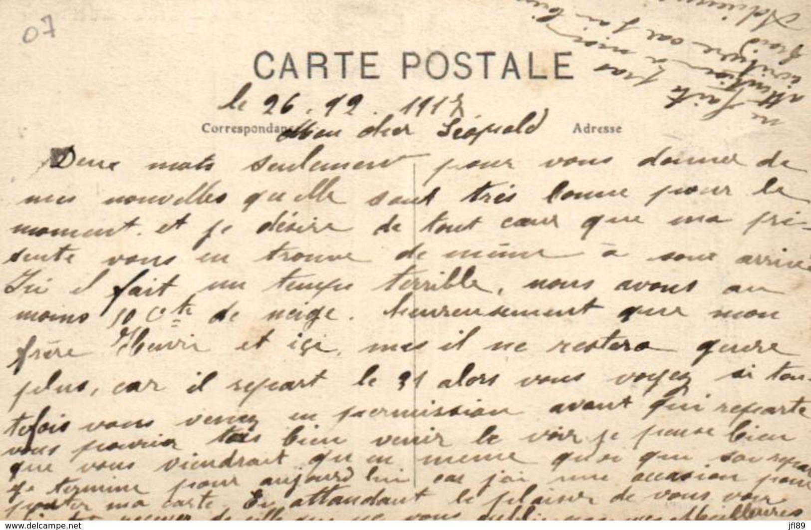 07 - Ardèche - Saint-Martin-le-Supérieur - La Poste, Arrivée Du Courrier - Syndicat Agricole Du Polzin - C 6806 - Unclassified