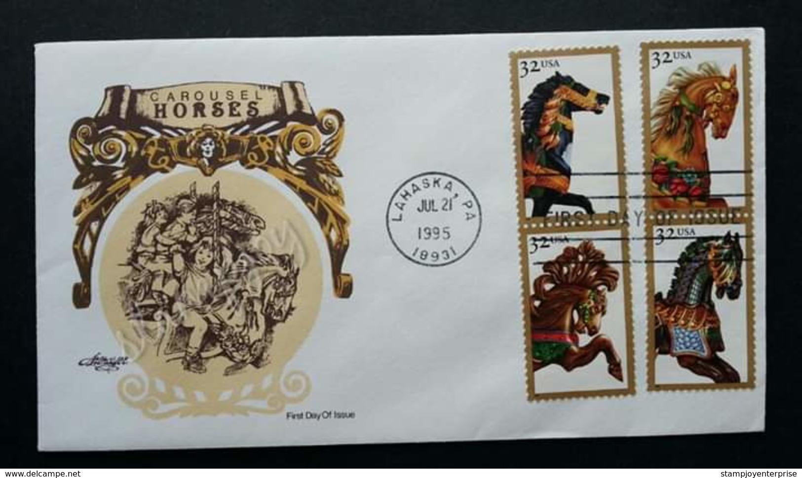 USA United States Carousel Horse 1995 (stamp FDC) - Etats-Unis
