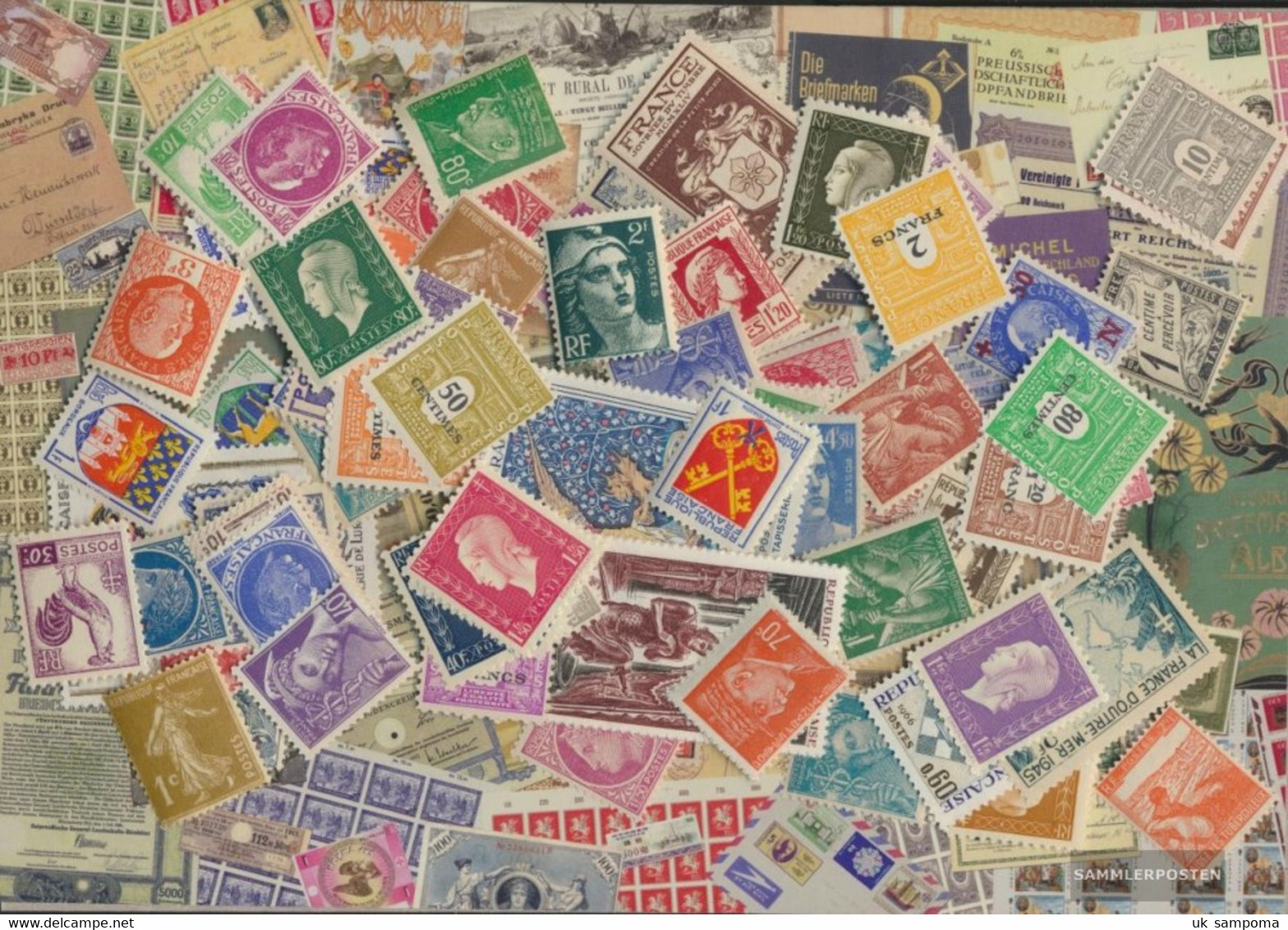 France Stamps-100 Different Stamps - Collections