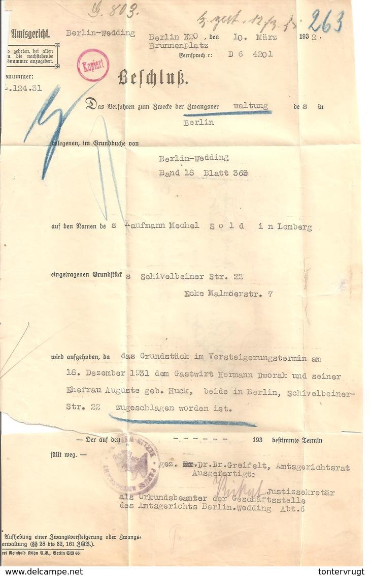 Ema Freistempel Berlin Wedding 11.3.32 Amtsgericht 046 - Deutschland