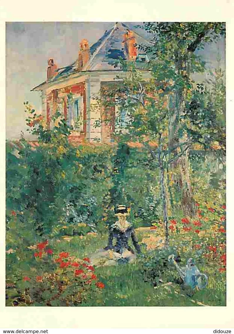 Art - Peinture - Edouard Manet - Un Coin Du Jardin De Bellevue - Voir Scans Recto-Verso - Peintures & Tableaux