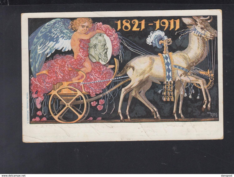 Bayern GSK Posthilfsstelle Niklassreuth Taxe Miesbach 1911 - Bayern