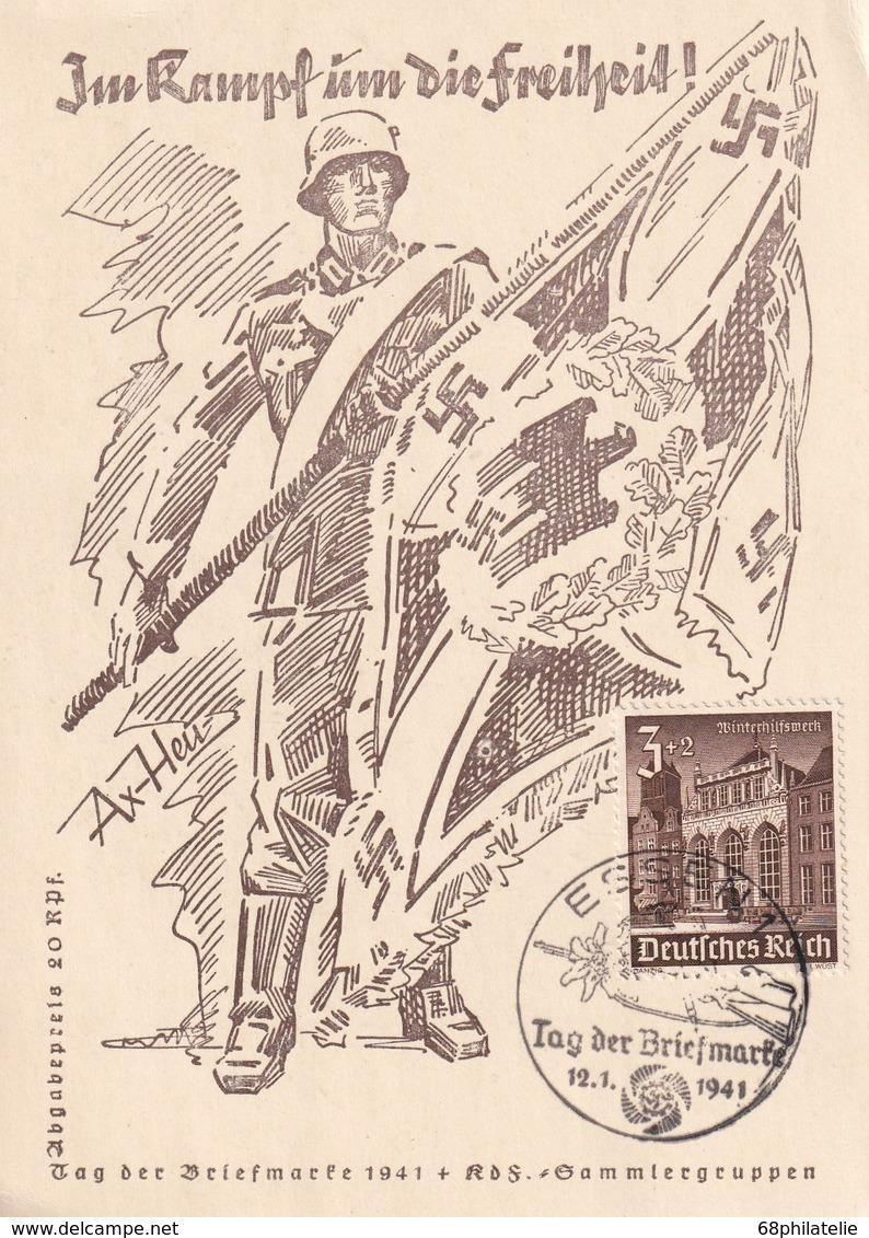 ALLEMAGNE 1941 CARTE DE PROPAGANDE DE ESSEN - Covers & Documents