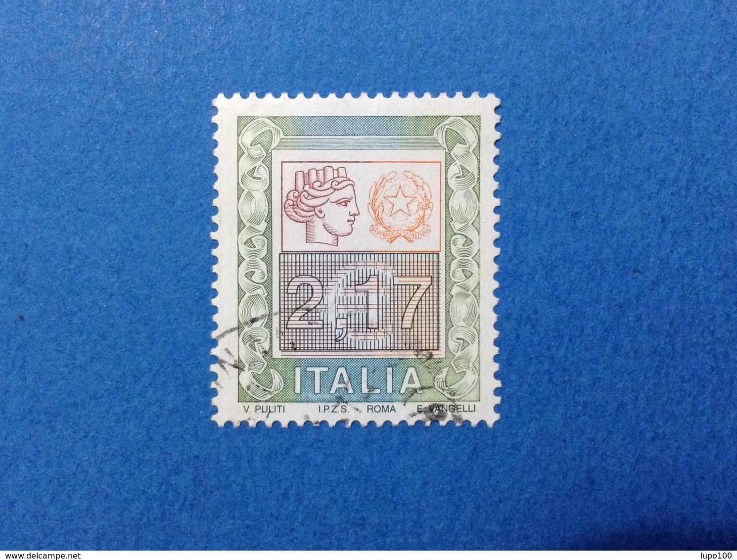 2002 ITALIA FRANCOBOLLO USATO STAMP USED ALTO VALORE 2,17 - 6. 1946-.. Repubblica