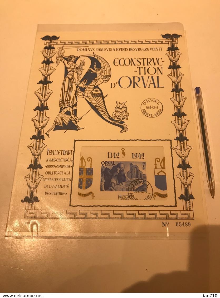 Feuillet Orval 1941 - Belgique