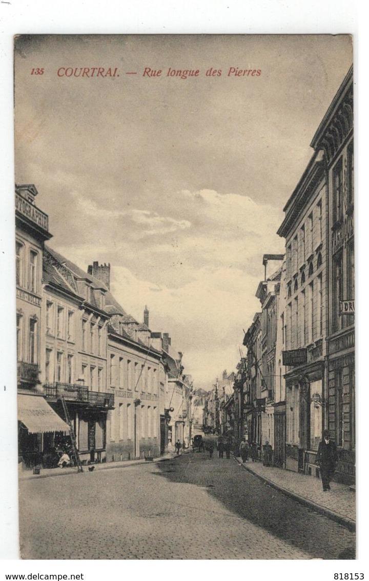 135  Kortrijk COURTRAI - Rue Longue Des Pierres 1910 - Kortrijk