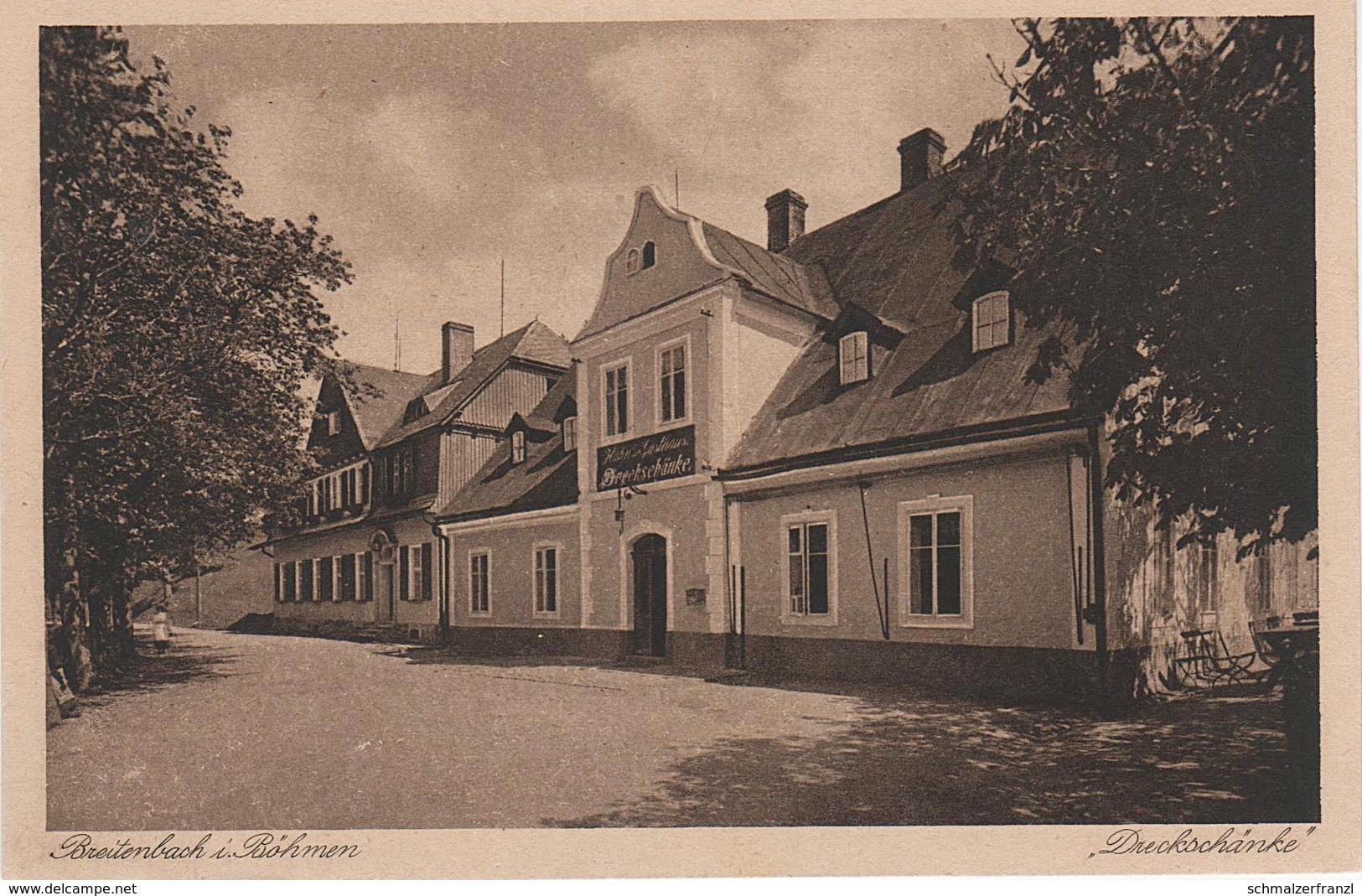 AK Dreckschänke Gasthof Erzgebirge A Breitenbach Potucky Johanngeorgenstadt Ziegenschacht Platten Bärringen Abertham - Sudeten