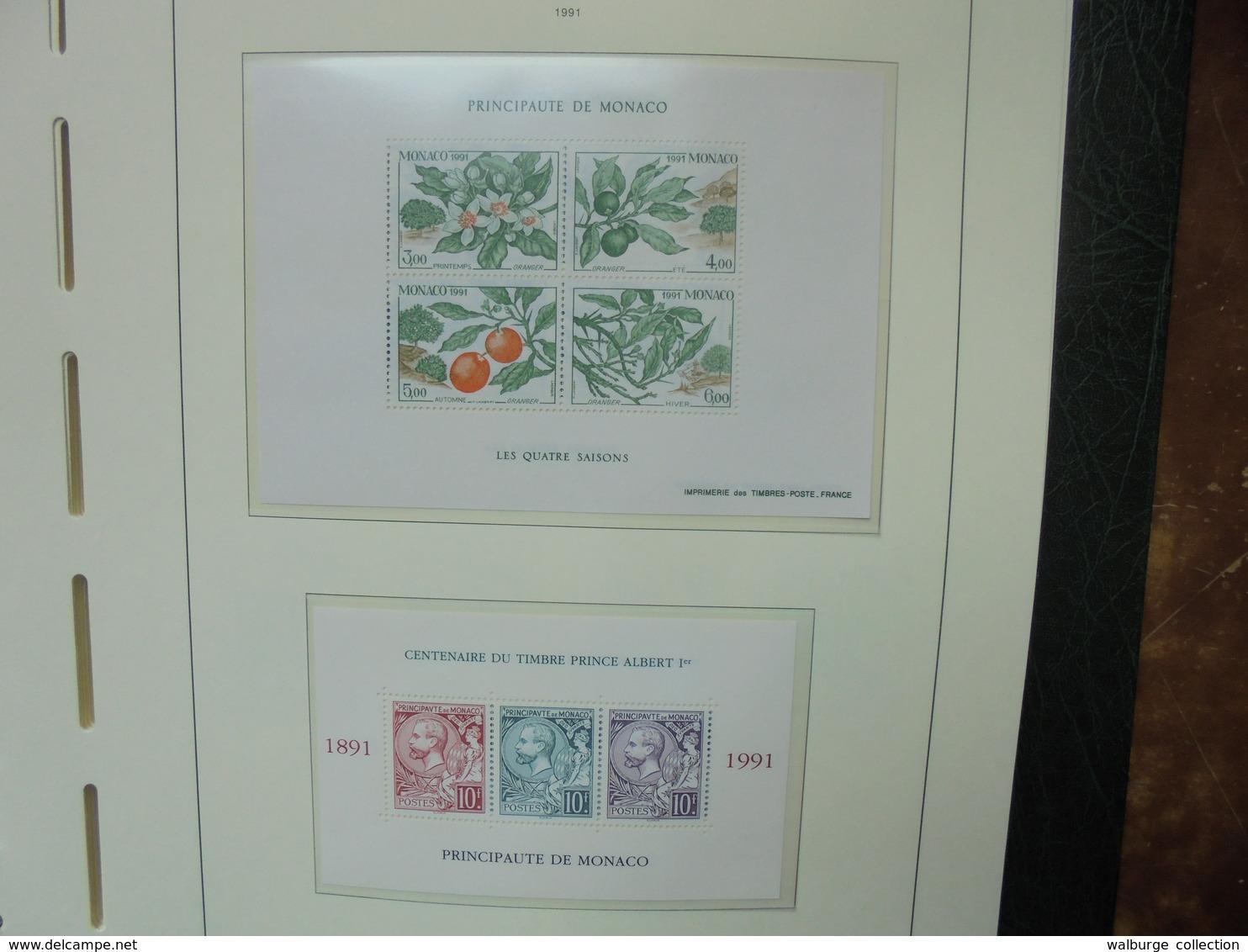 "MONACO 1985-2000 NEUFS MNH** SUPERBE ALBUM ""LEUCHTURM"" (2482) 3 KILOS 300 - Unused Stamps"