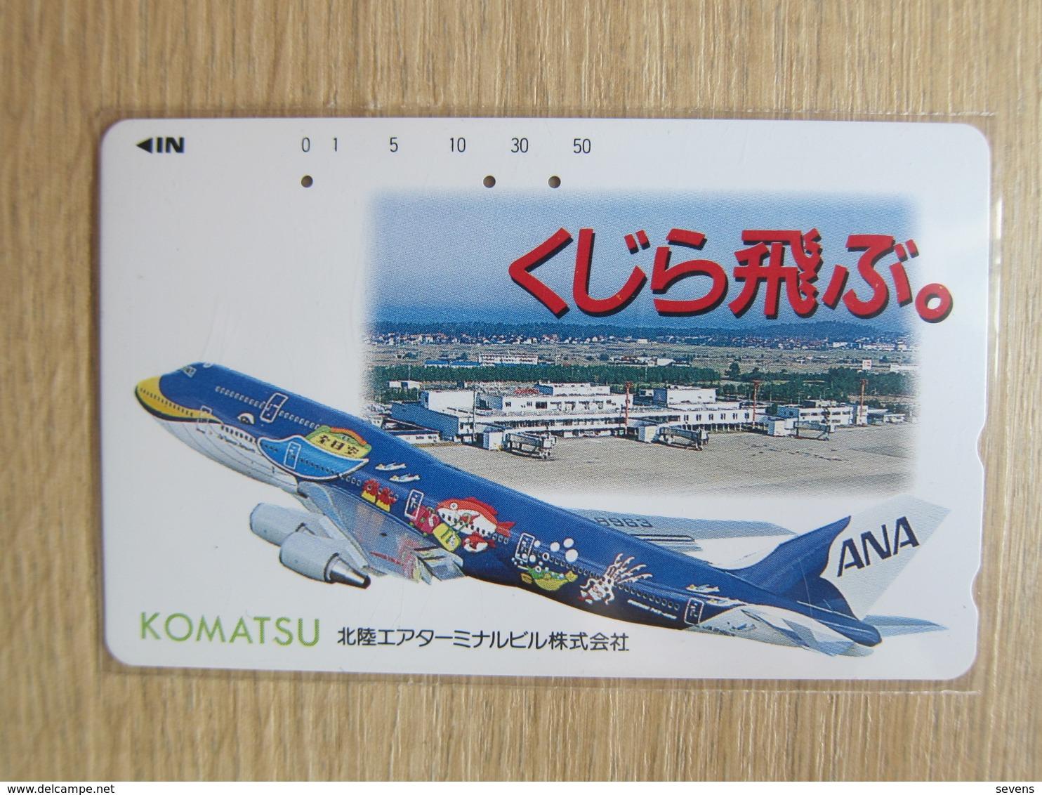Japan Phonecard,110-007 ANA Airlines,Komatsu,used - Avions