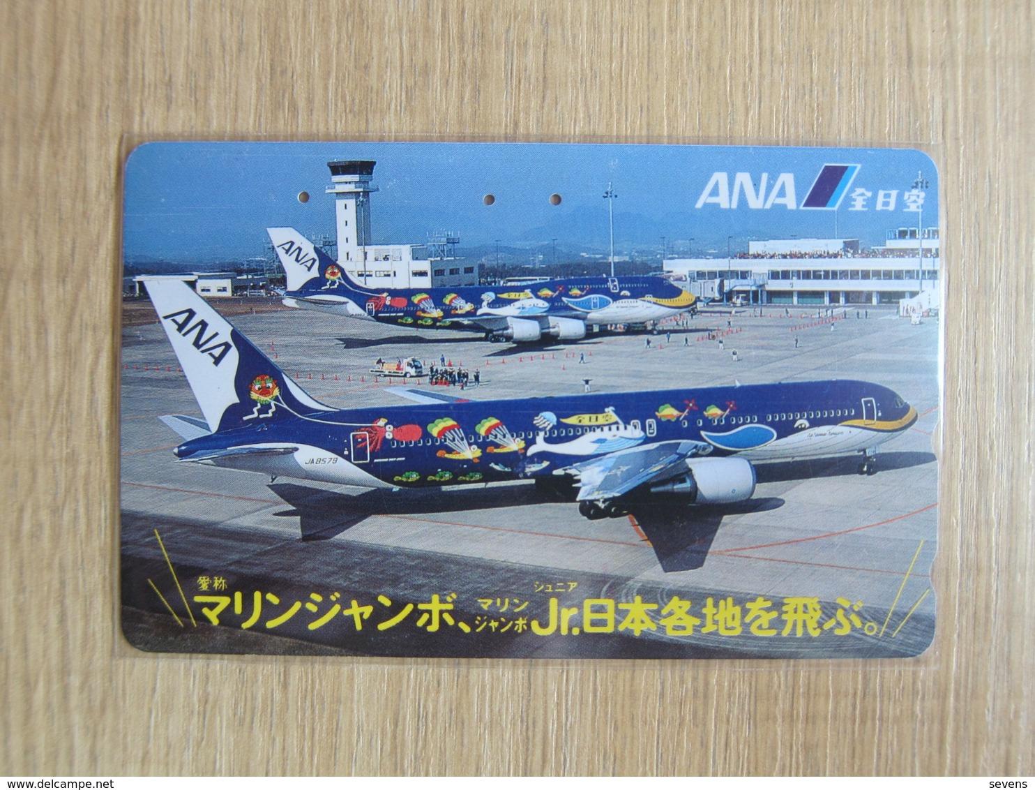 Japan Phonecard,110-011 ANA Airlines,used - Vliegtuigen