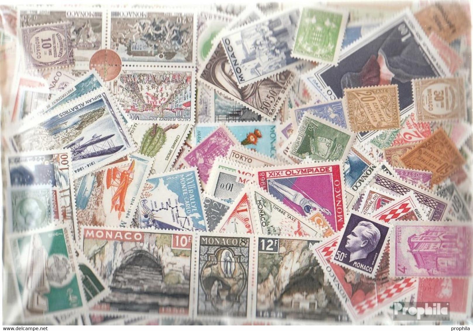 Monaco Briefmarken-2.500 Verschiedene Marken - Monaco