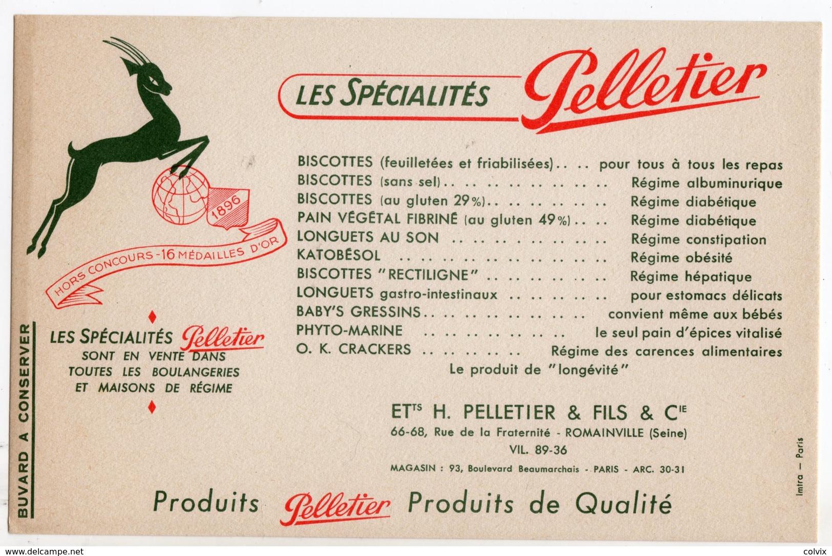 BUVARD BISCOTTES PELLETIER - Biscottes