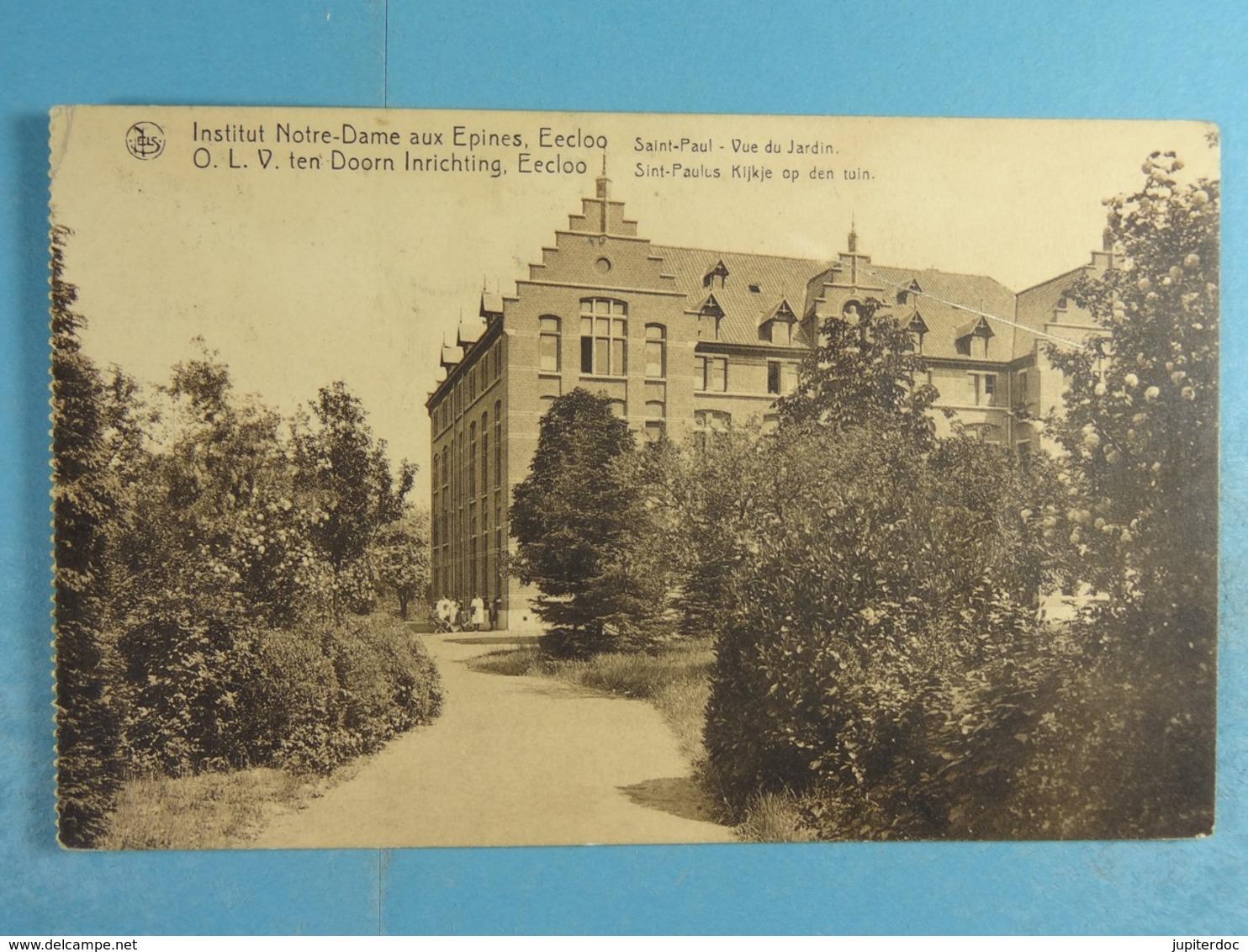 Eeklo Institut Notre Dame Aux Epines Saint-Paul Vue Du Jardin - Eeklo