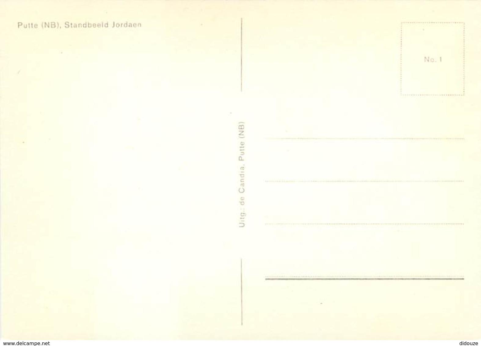 Belgique - Putte - Standbeeld Jordaen - Monument - Carte Neuve - Voir Scans Recto-Verso - Putte