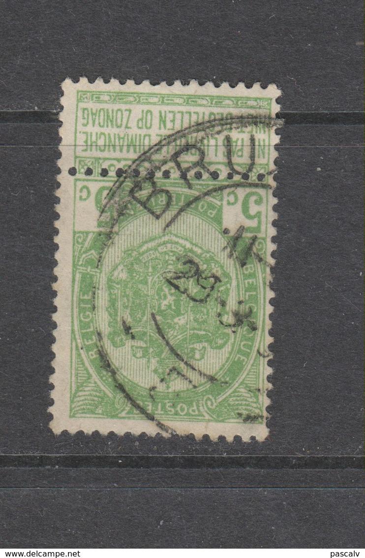 COB 56 Oblitération Centrale Grand Cachet Double Cercle Bilingue BRUXELLES - 1893-1907 Armoiries