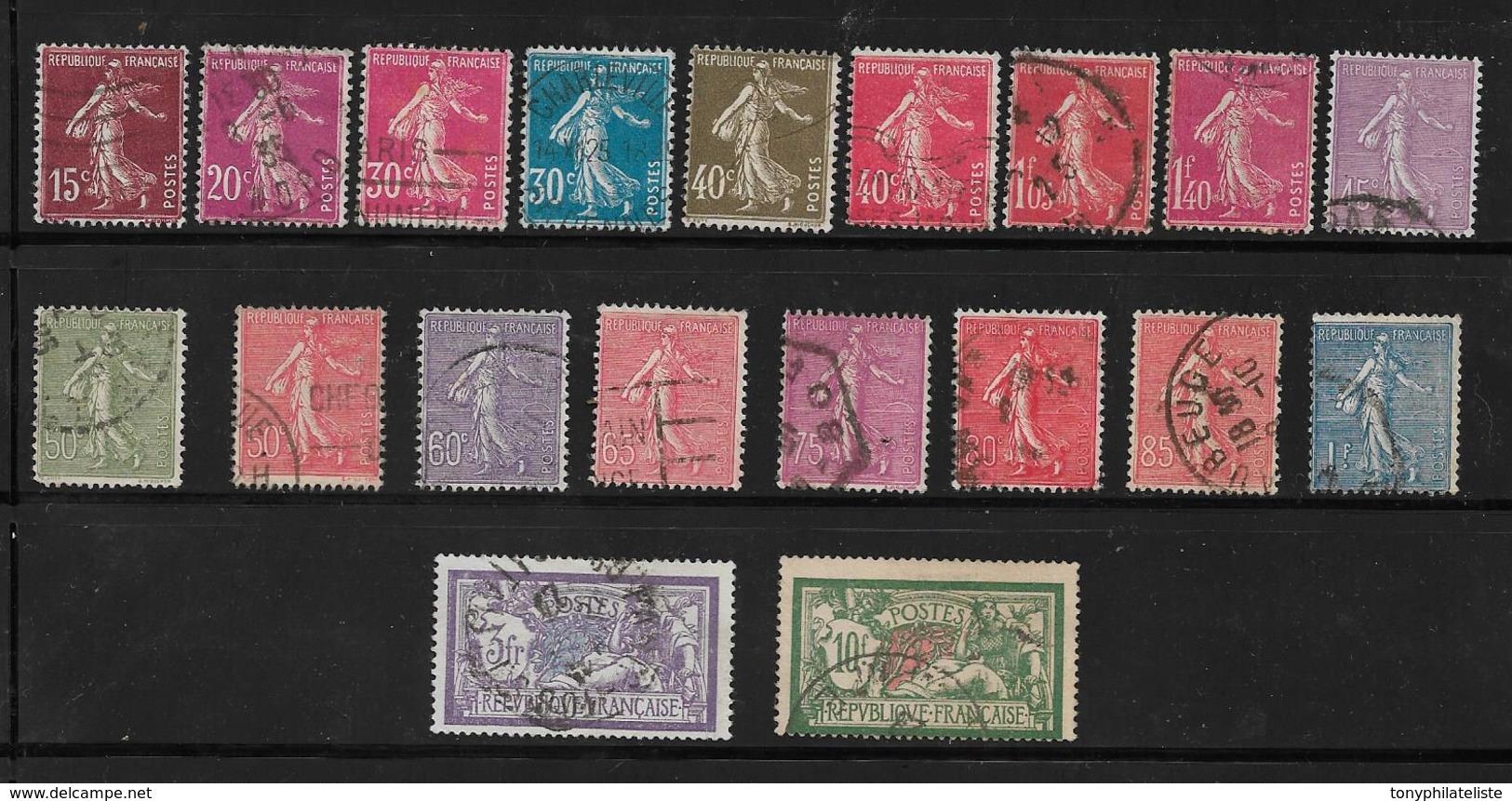 France Timbres De 1924/26   N°189 A 207   Oblitérés (cote 78,50€) - France