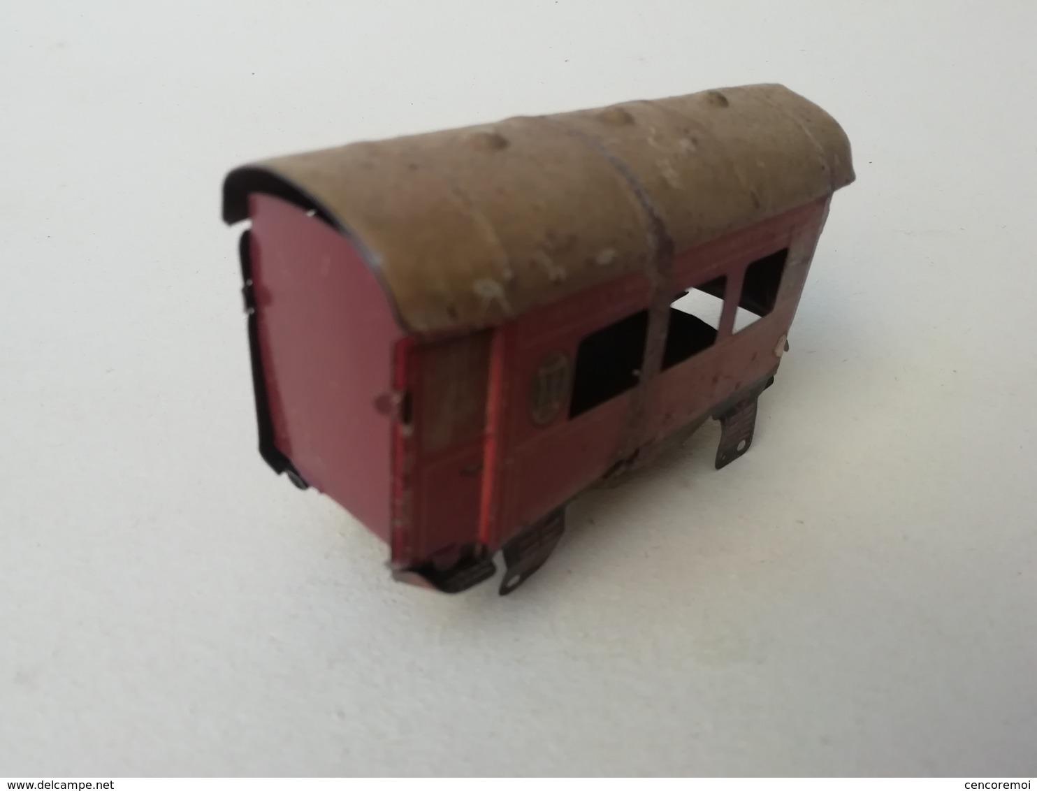Train Ancien, Voiture Pullman, CR, Wagon Lits, Jouet Ancien De Collection En Tôle Lithographiée - Toy Memorabilia