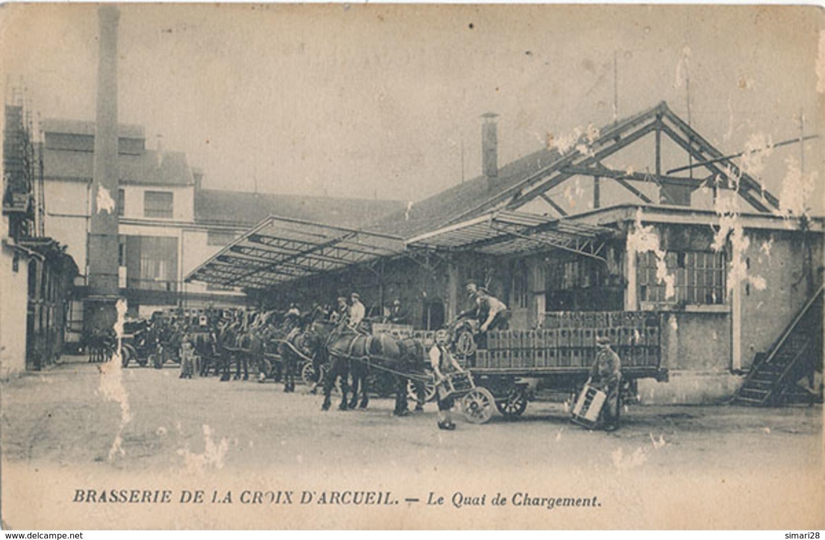 ARCUEIL - BRASSERIE DE LA CROIX D'ARCUEIL - 28 ET 30 RUE BERTHOLLET - LE QUAI DE CHARGEMENT ( AVEC USURE) - Arcueil