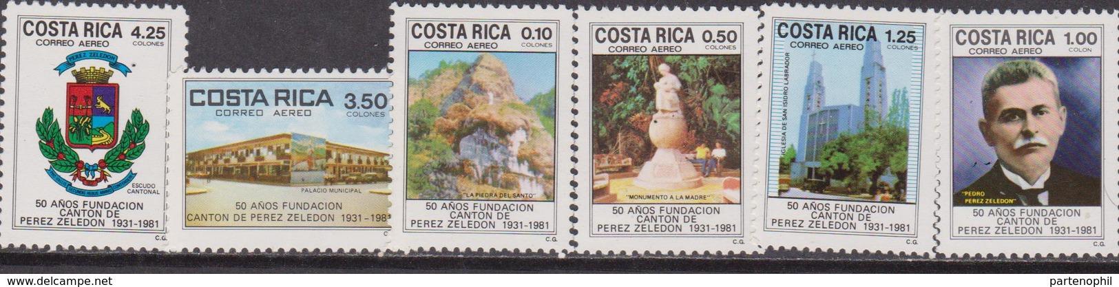 Costa Rica 1981 50 Ann. Fundacion Set Mnh - Costa Rica