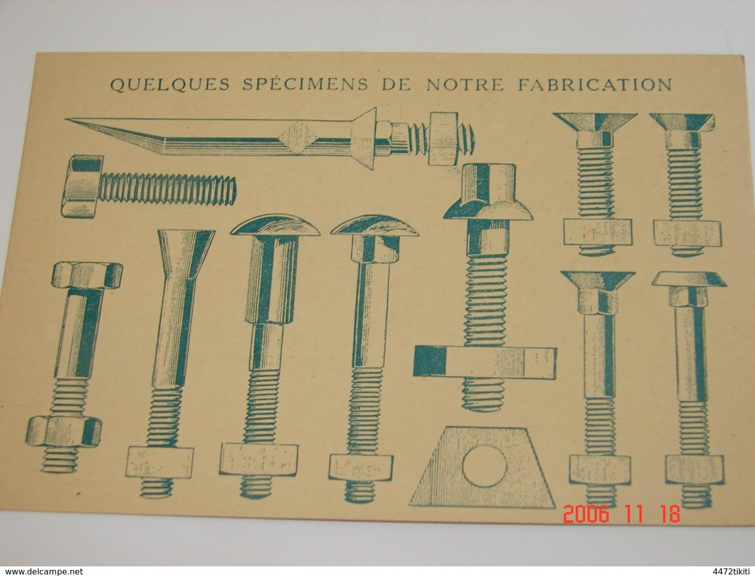 C.P.A.- Linchamps (08) - Maison R.Laurent & Cie - Fabrique Boulons , Ecrous ,  Rivets & Vis - 1925 -SUP (BO 90) - France