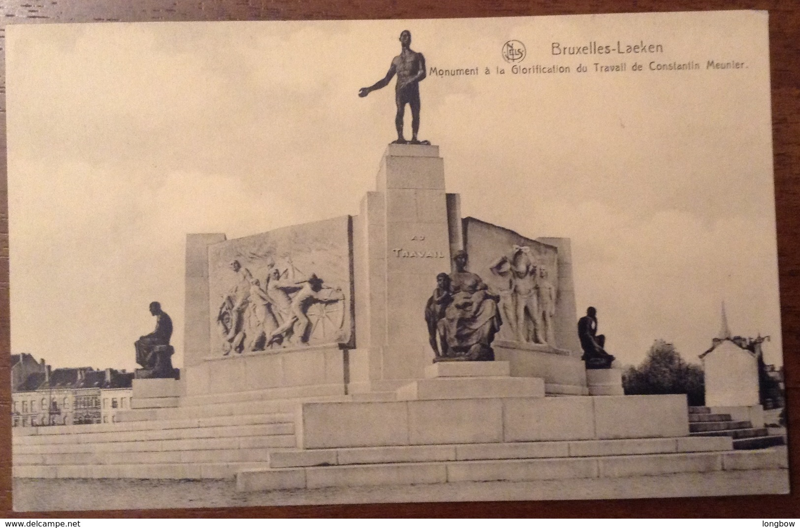 Bruxelles Monument A La Glorification Du Travall De Costantin Meunier - Monumenti, Edifici
