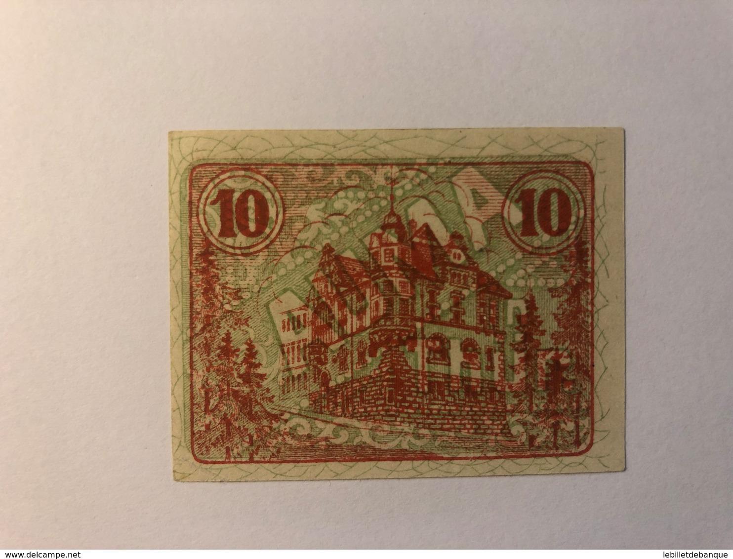 Allemagne Notgeld Auma 10 Pfennig - Collections