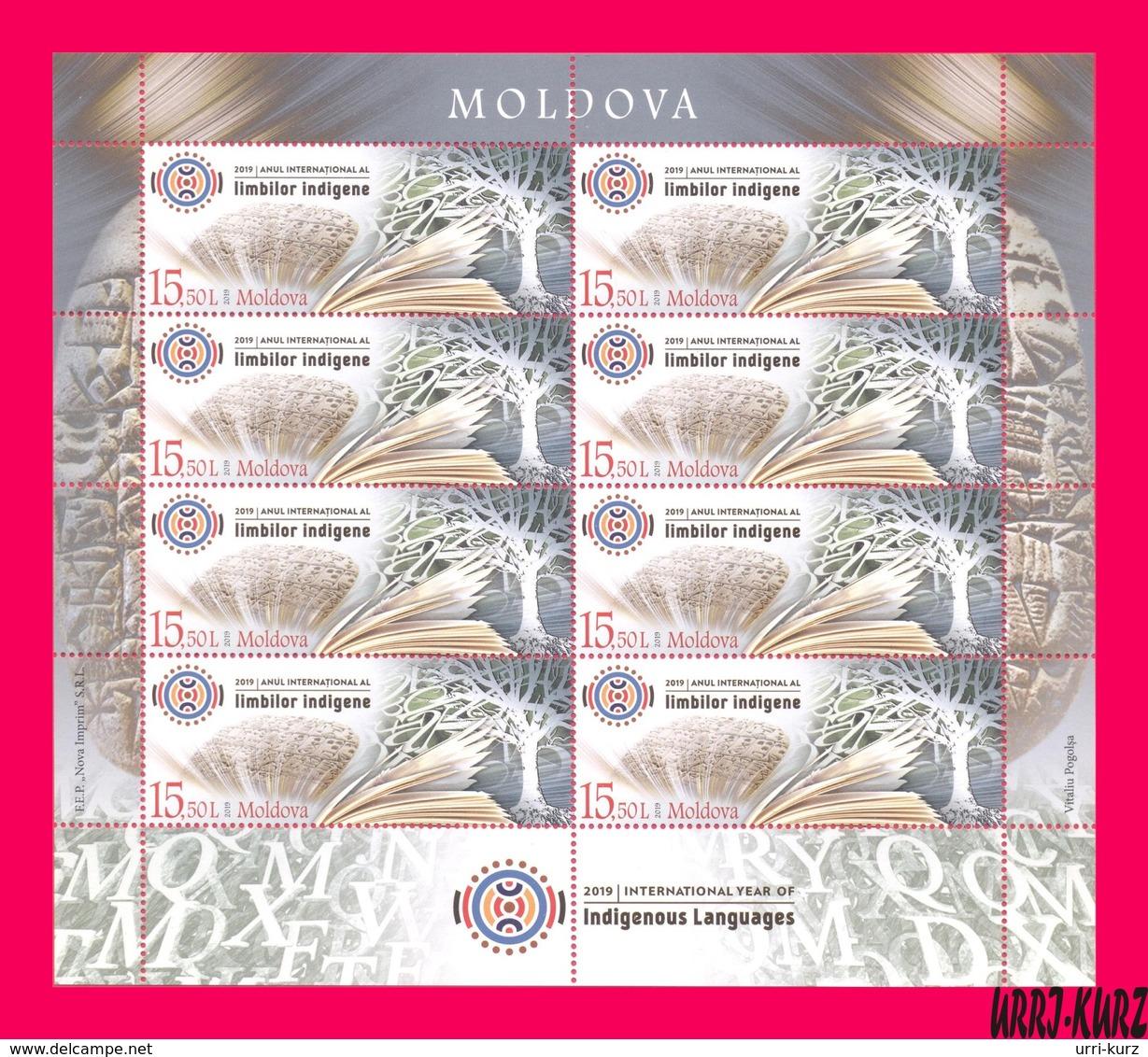 MOLDOVA 2019 International Year Of Indigenous Languages M-s Sc1036 Mi Klb.1101 MNH - Languages