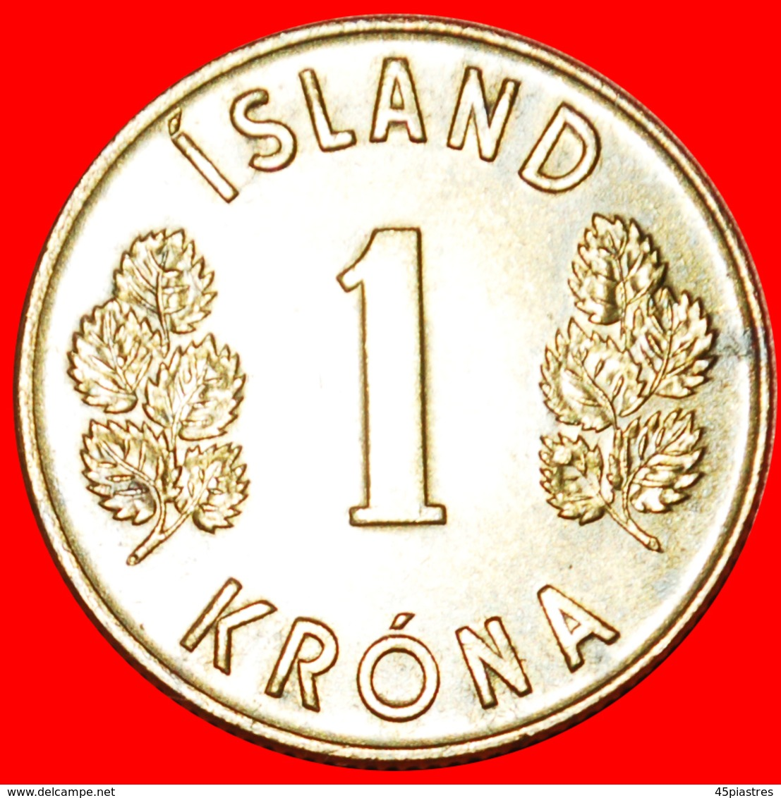 + GREAT BRITAIN 4 SPIRITS (1957-1975): ICELAND ★ 1 CROWN 1975 MINT LUSTER! LOW START ★ NO RESERVE! - Iceland