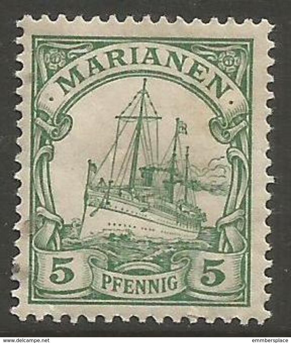 Mariana Islands - 1901 Kaiser's Yacht 5pf MH *    Sc 18 - Colony: Mariana Islands