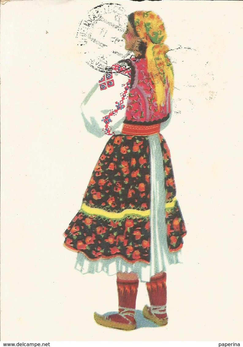 CART. DISEGNATA FOLCLORE RUSSO: COSTUMI (38) - Costumi