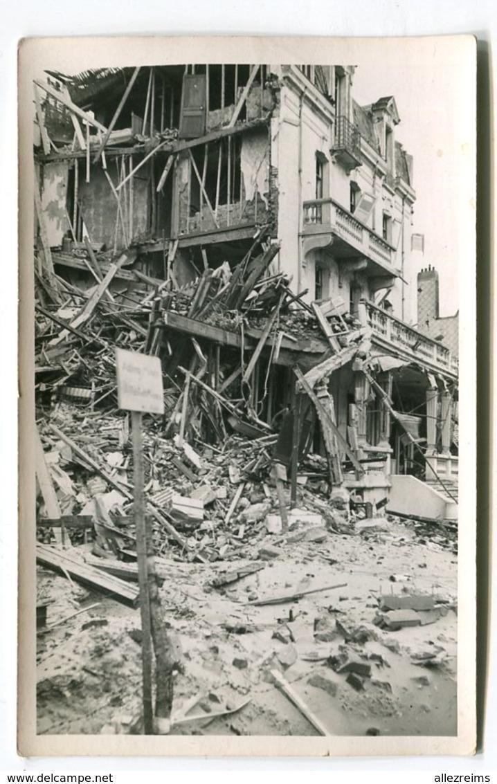 Carte Photo 62  : BERCK  Guerre 39-45  Hotel De La Paix   VOIR  DESCRIPTIF  §§§ - Berck