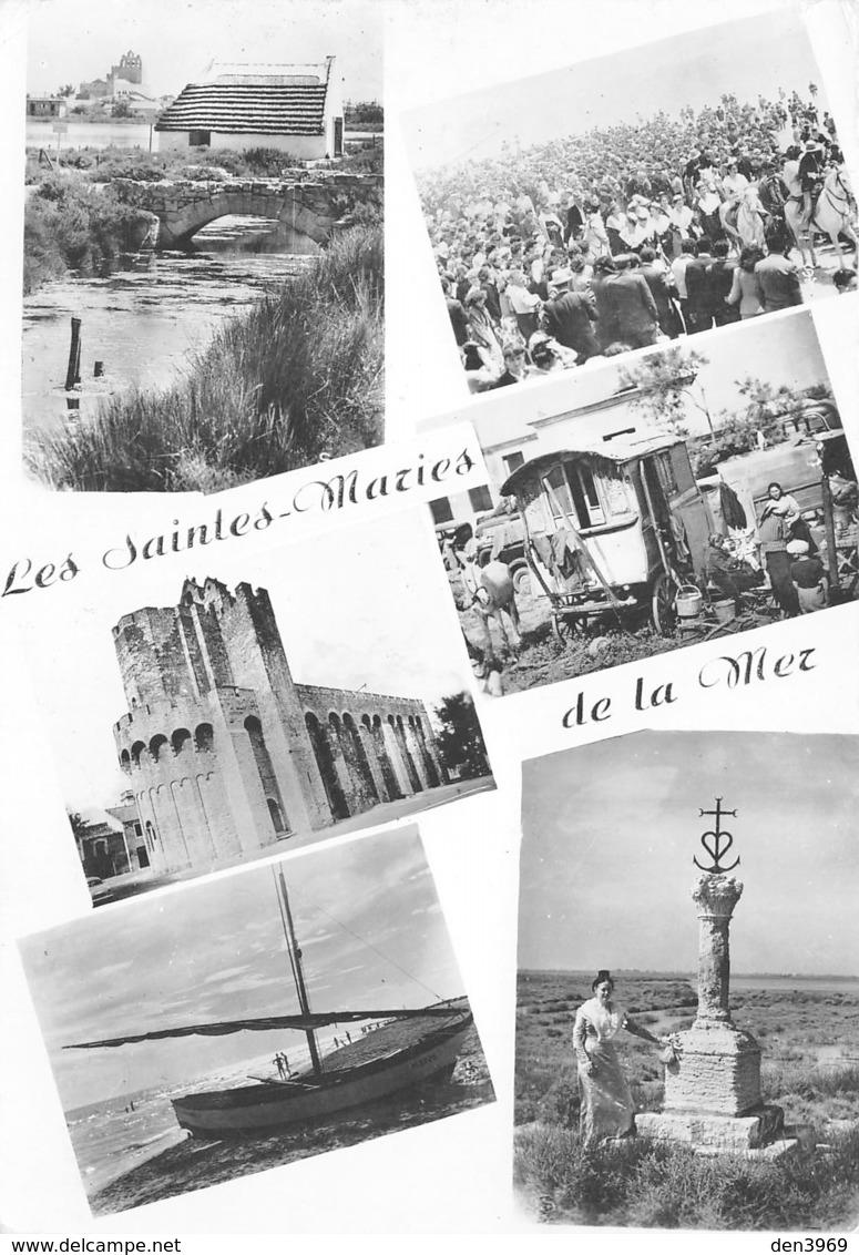 Les SAINTES-MARIES-de-la-MER - Cabane De Gardians - Procession - Roulotte De Gitans - Bateaux De Pêche - Basilique... - Saintes Maries De La Mer