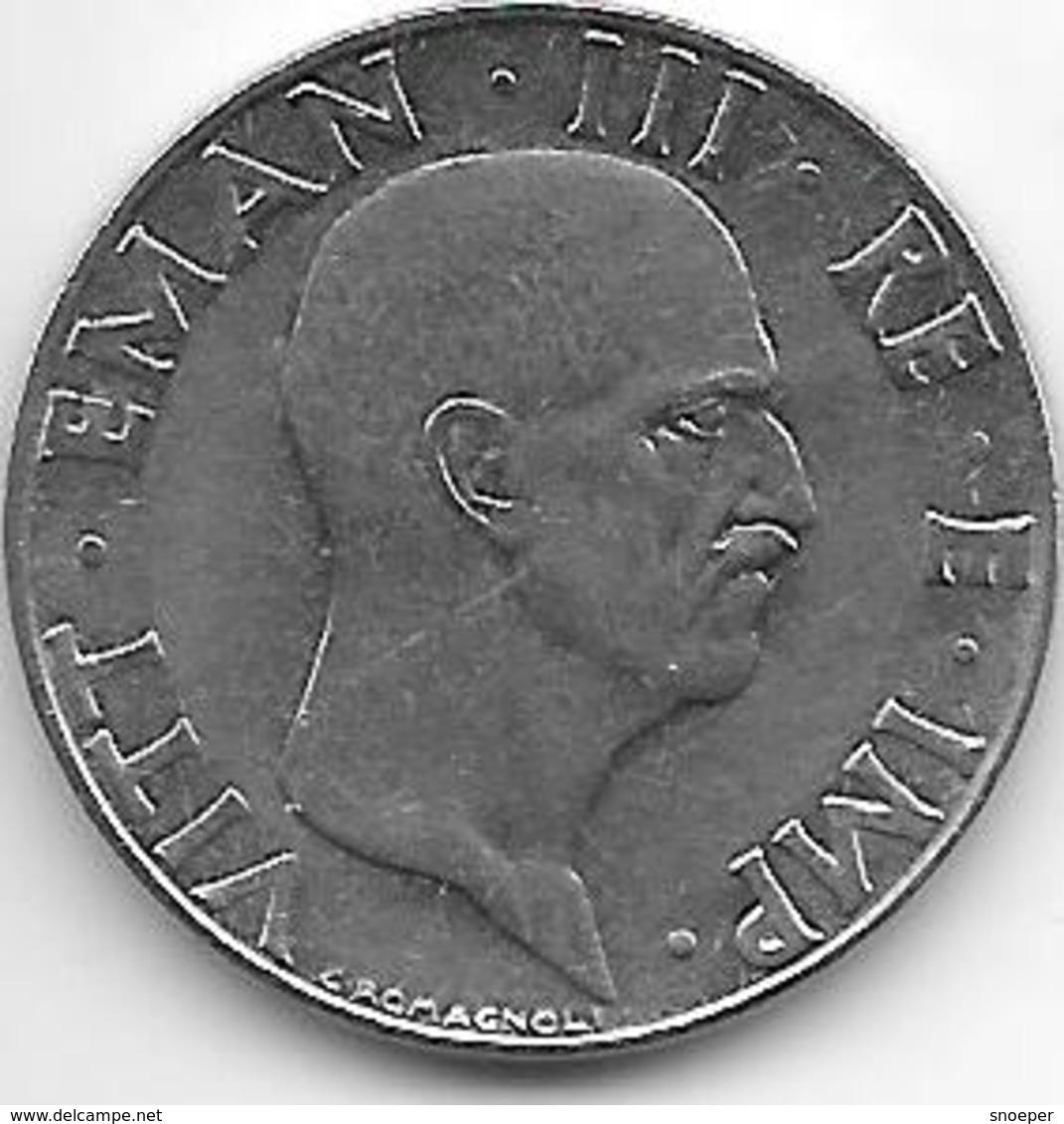 *italy 50 Centesimi 1940 XVIII Km 76A NON MAG.  XF - 1900-1946 : Victor Emmanuel III & Umberto II