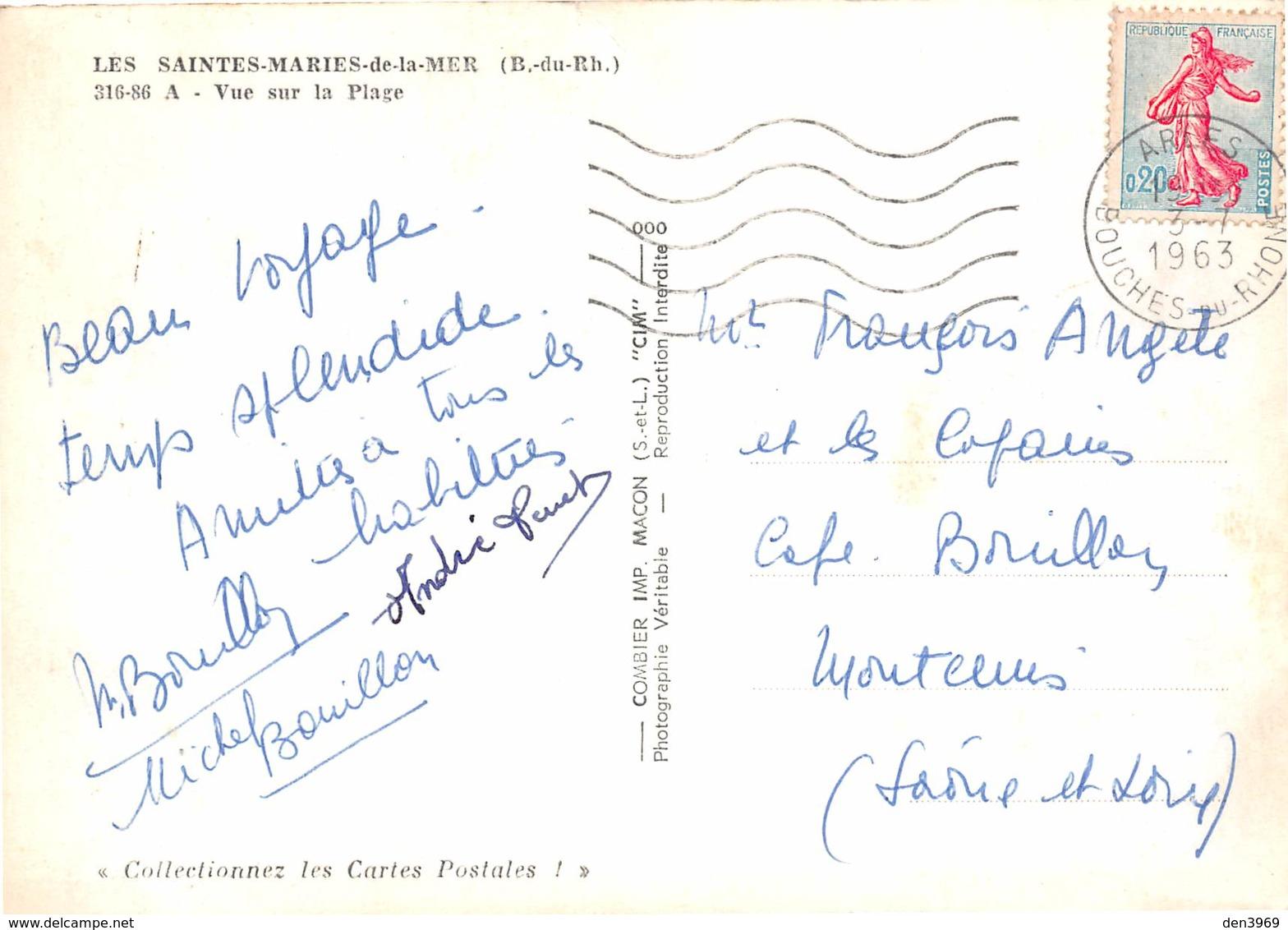 Les SAINTES-MARIES-de-la-MER - Vue Sur La Plage - Saintes Maries De La Mer