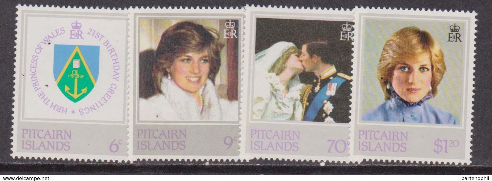 Pitcairn Is. Diana Set MNH - Donne Celebri
